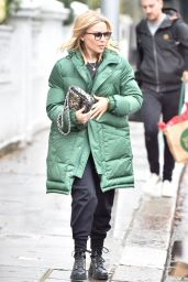Kylie Minogue in a Big Quilted Jacket and Dr Marten Boots 11/23/2019