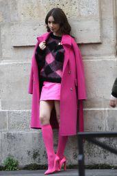 """Lily Collins - """"Emily in Paris"""" Set in Paris 11/05/2019"""