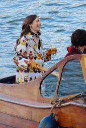 """Lily Collins - """"Emily In Paris"""" Set in Paris 11/13/2019"""