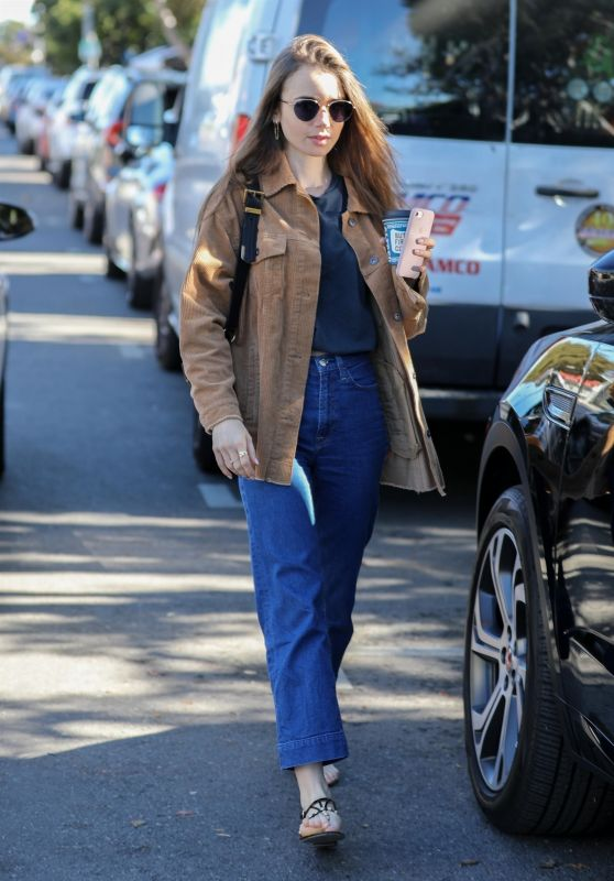 Lily Collins - Out for Coffee in LA 11/18/2019