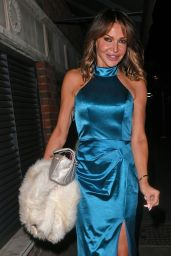 Lizzie Cundy - Leaving Simon Cowell Charity Ball at Globe Theatre in London 11/19/2019