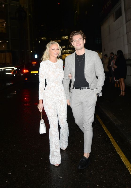 Lucie Donlan and Joe Garratt – Arriving at The Beauty Awards 2019 with ASOS