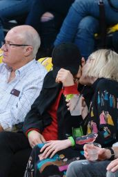 Lucy Boynton and Rami Malek - Washington Wizards vs Los Angeles Lakers Basketball game in Los Angeles 11/29/2019