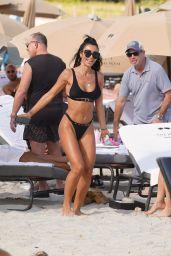 Metisha Schaefer in a Black Bikini 11/23/2019