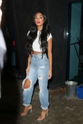 Nicole Scherzinger in Ripped Jeans  - Leaving the X Factor in London 11/23/2019