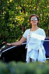 Nina Dobrev - Arrives at a Friend