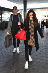 Sarah Hyland in Travel Outfit - LAX in LA 11/11/2019