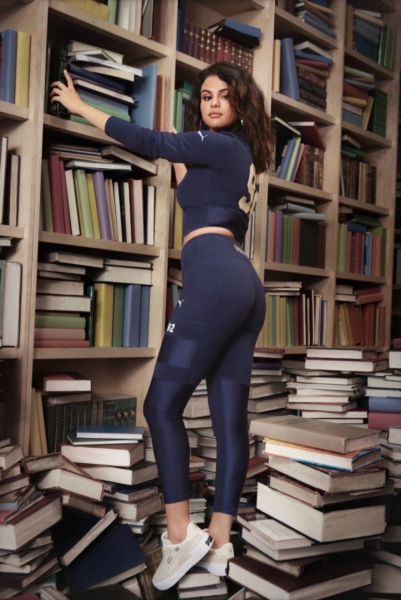 Selena Gomez modeling her juicy round ass in yoga pants for her new PUMA line
