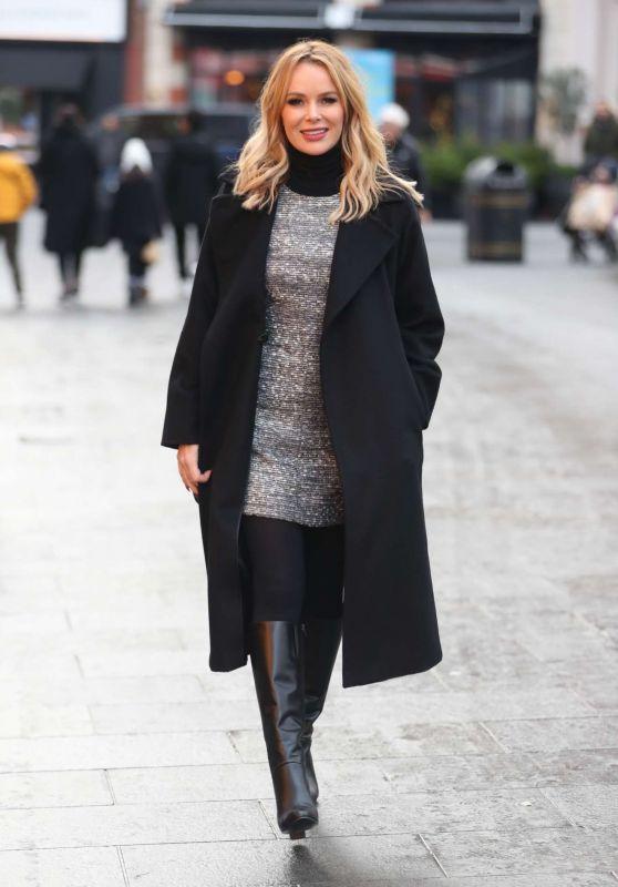 Amanda Holden Cute Style - Leaving iHeart Radio Studio in London 12/17/2019