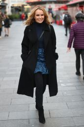 Amanda Holden Street Fashion - Leaving Heart Radio 12/18/2019