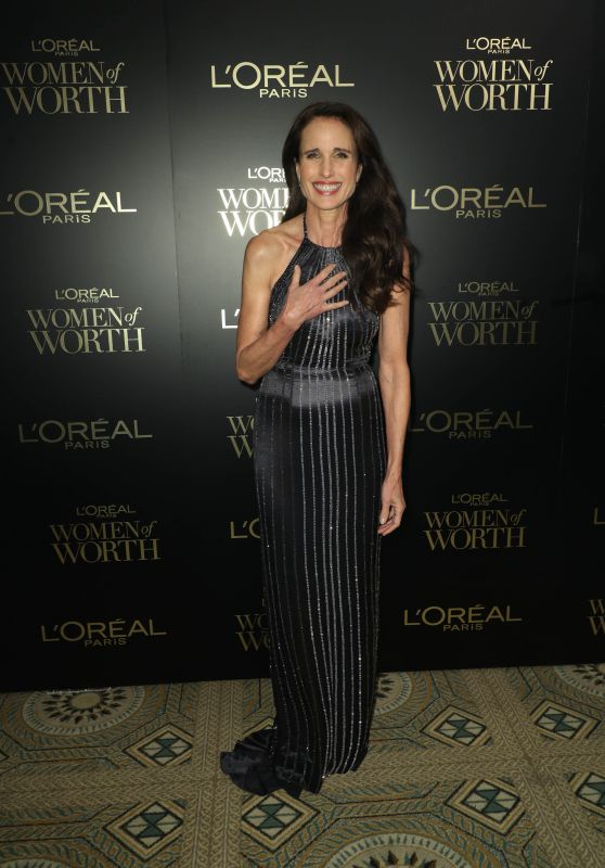 Andie MacDowell – L'Oreal Paris Women Of Worth Awards 2019 in NYC