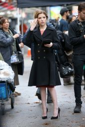 """Anna Kendrick - Filming a Wedding Scene for """"Love Life"""" in NYC 12/10/2019"""