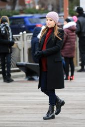 "Anna Kendrick - ""Love Life"" Set in NYC 12/16/2019"
