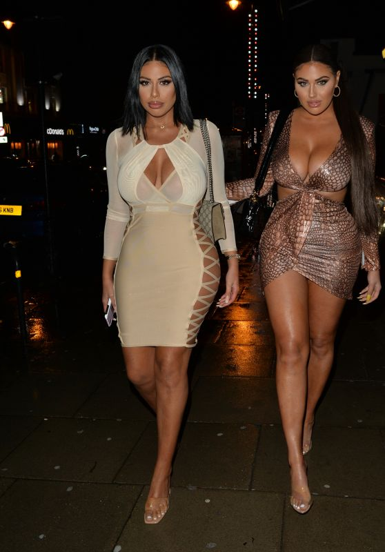 Anna Vakili and Mandi Vakili - Arriving at Birthday Party in London 12/21/2019