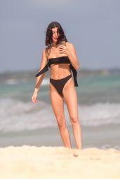 Bella Banos in a Black Bikini 12/20/2019