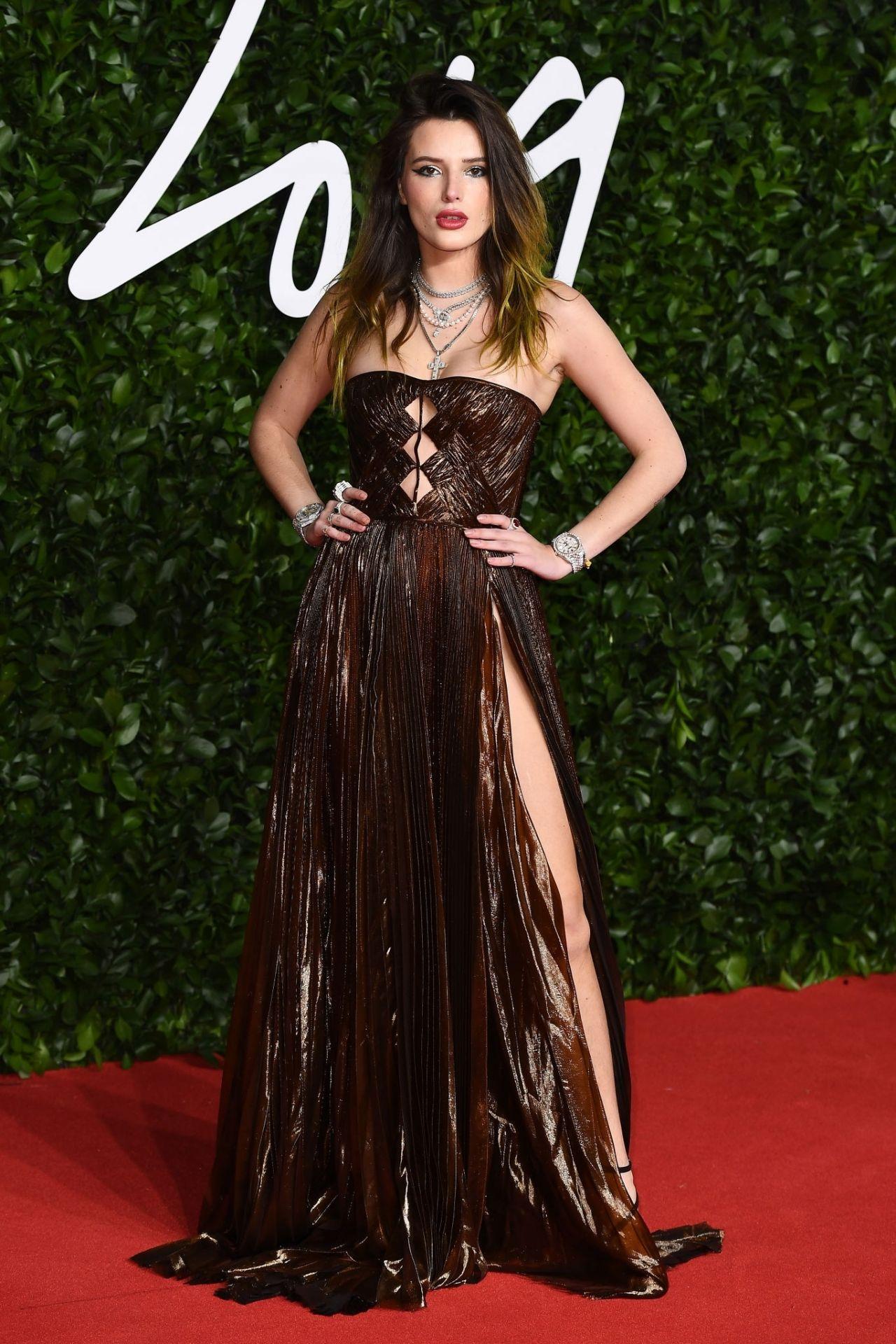 Ravishing Bella Thorne very sexy at Fashion Awards 2019 Red Carpet in London