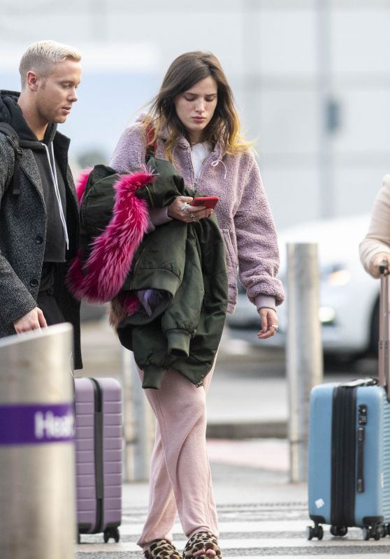 Bella Thorne in Travel Outfit - Catching a Flight out of London 12/03/2019
