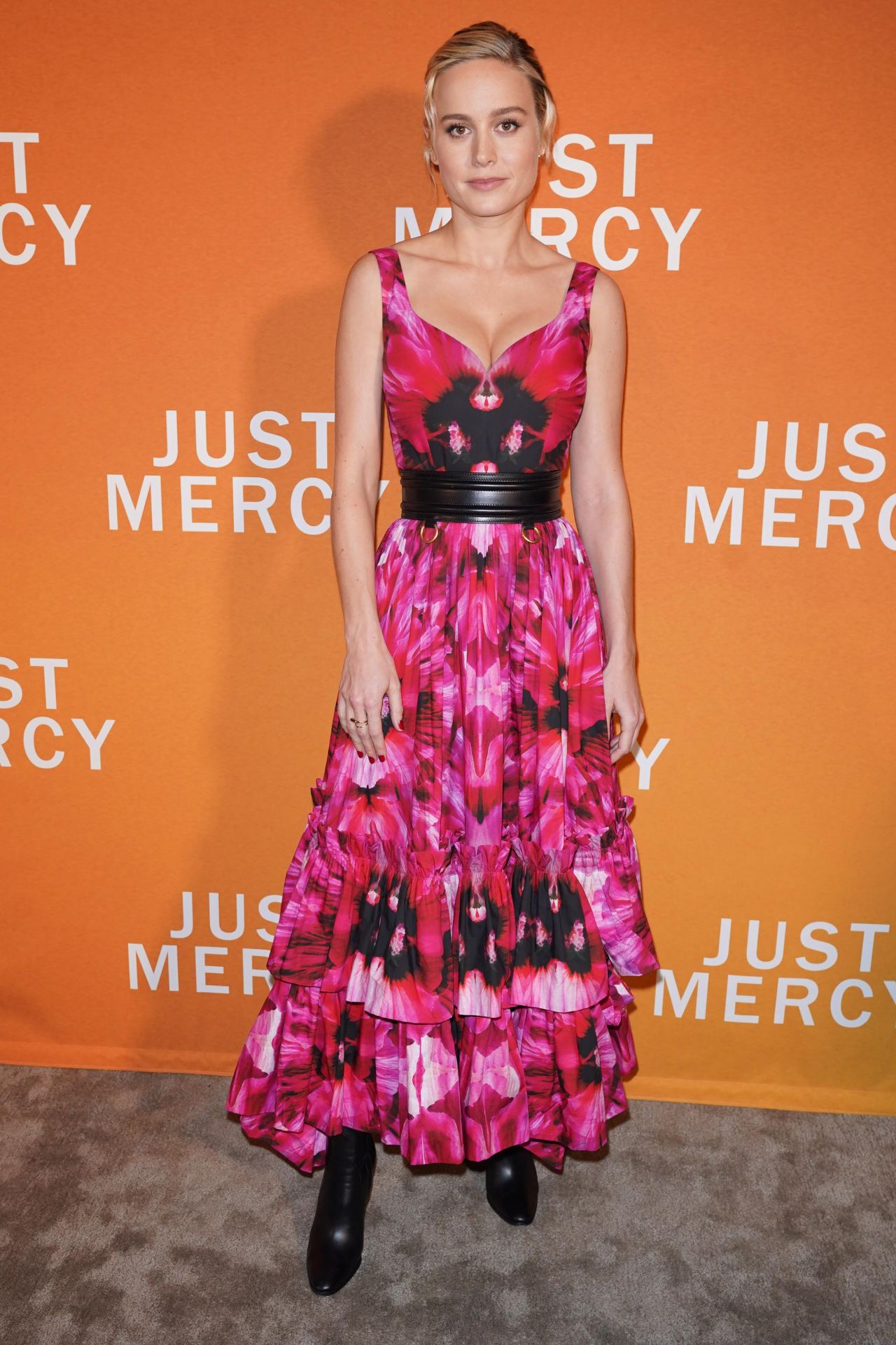 """Brie Larson beautiful at Special NY Reception to Celebrate """"Just Mercy"""" in NY"""