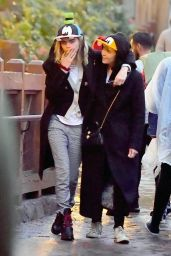 Cara Delevingne and Ashley Benson - Disneyland 12/24/2019