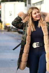 Carol Vorderman Winter Street Style 12/24/2019