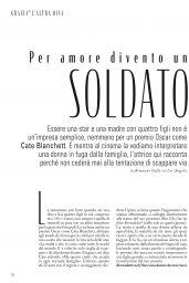 Cate Blanchett - Grazia Italy 12/12/2019 Issue
