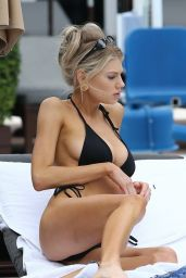 Charlotte McKinney in a Bikini on the Beach in Miami 12/07/2019