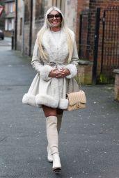 Christine McGuinness - Leaving an Alderley Edge Hair Salon in London 12/18/2019