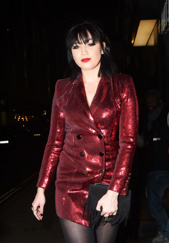 Daisy Lowe Night Out Style - Absolute Crackers Christmas Party in London 12/16/2019