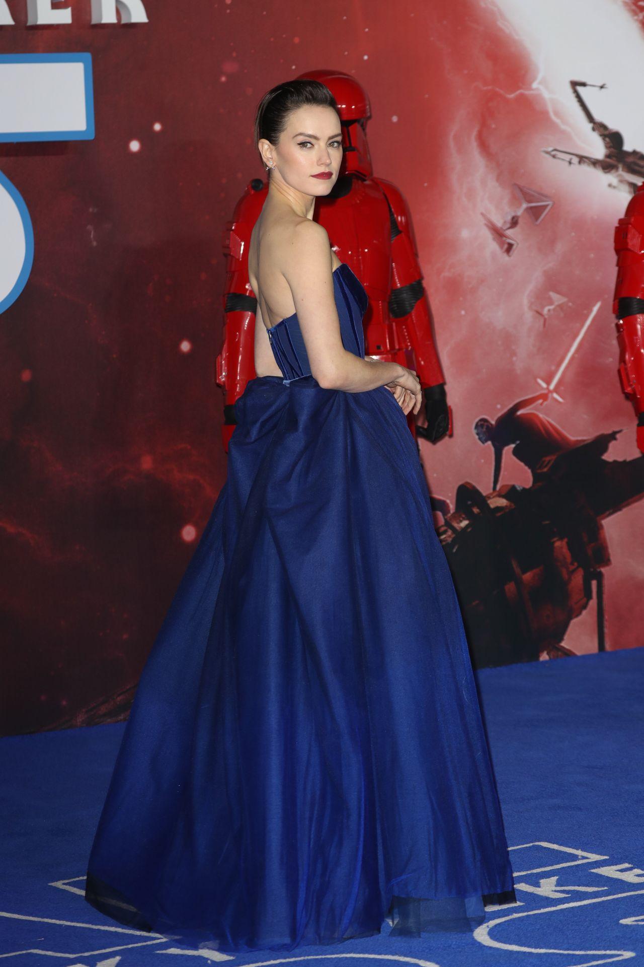 Daisy Ridley Star Wars The Rise Of Skywalker Premiere In London