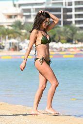 Danielle Lloyd in a Bikini - Beach in Dubai 11/29/2019