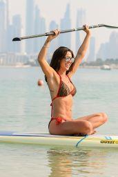 Danielle Lloyd in a Bikini - Paddle Boarding in the Sea in Dubai 12/01/2019
