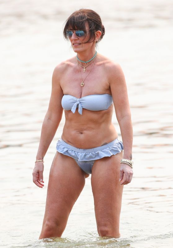 Davina McCall in a Bikini - December 2019