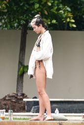 Dua Lipa in a Bikini at a Pool in Miami 12/30/2019