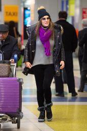 Elizabeth Hurley - JFK Airport in NYC 12/09/2019