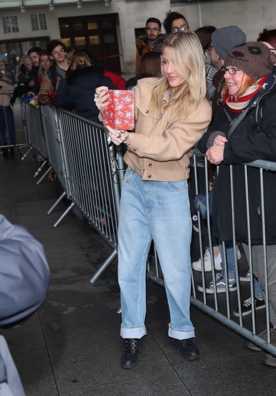 Ellie Goulding - Greets Fans after Live Lounge Performance in London 12/17/2019
