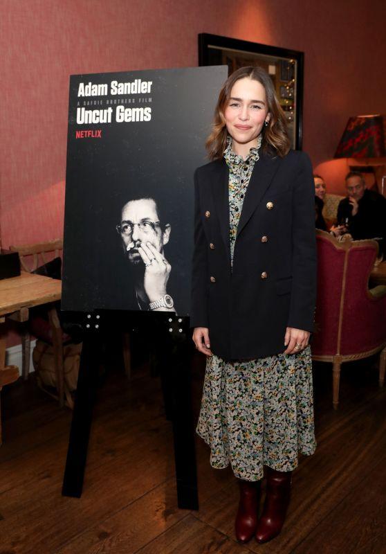 """Emilia Clarke - Netflix Tastemaker Screening for """"Uncut Gems"""" in London"""
