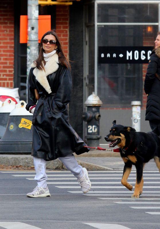 Emily Ratajkowski - Out With Husband Sebastian Bear-McClard in NYC 12/28/2019