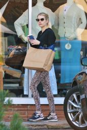 Emma Roberts in Tights - Shopping in Studio City 12/11/2019