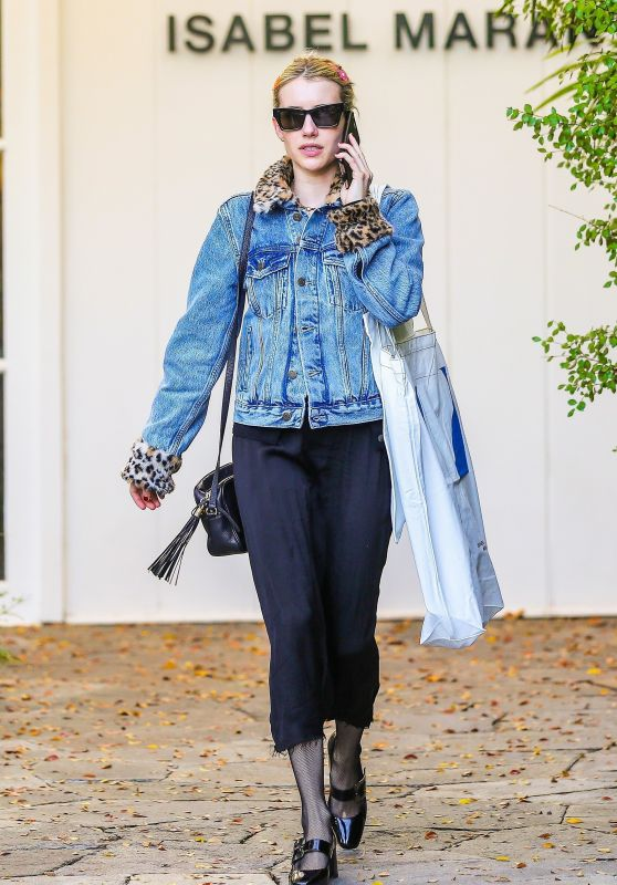 Emma Roberts - Shopping on Melrose Place in Beverly Hills 12/20/2019