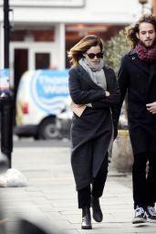 Emma Watson Winter Street Stye - London 12/18/2019