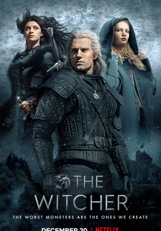 "Freya Allan, Anya Chalotra and Henry Cavill - ""The Witcher"" Season 1 Poster"