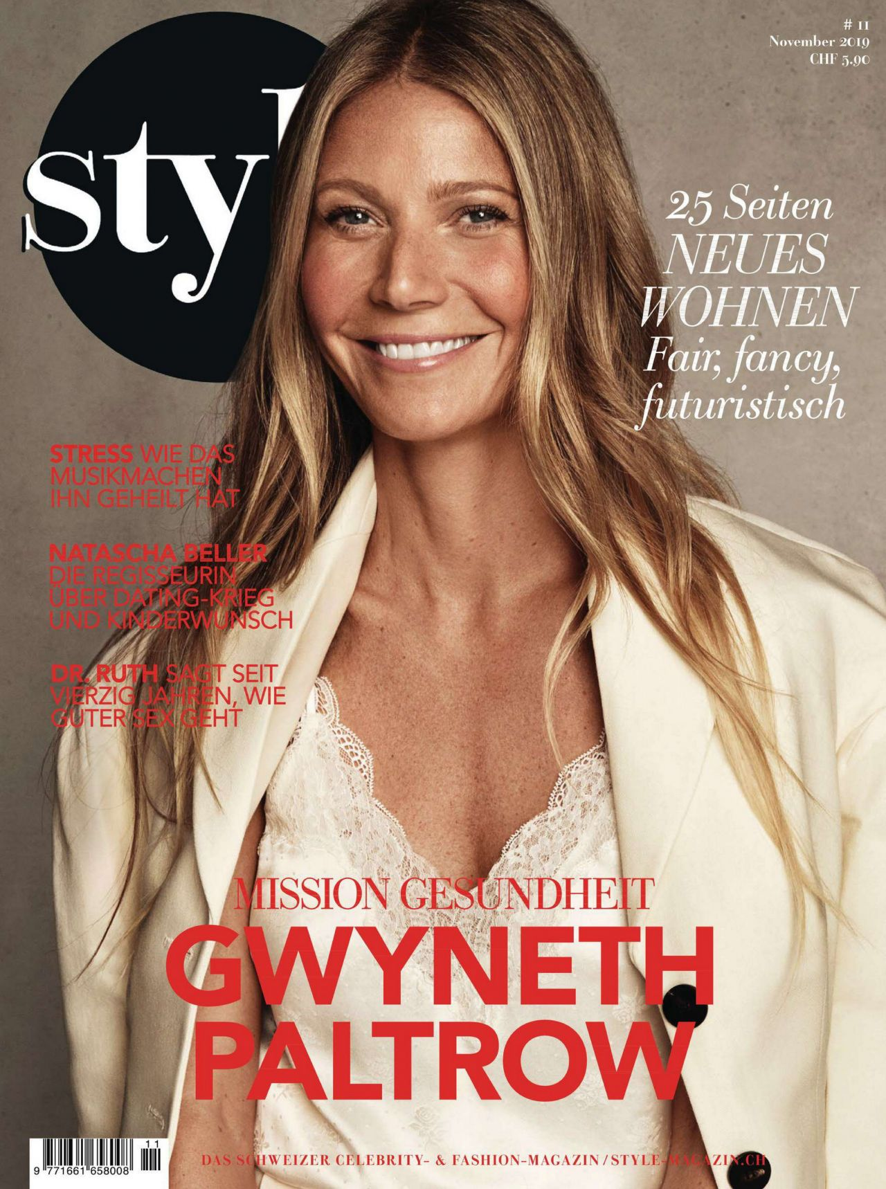 Gwyneth Paltrow glowing in Style Magazine Germany November 2019
