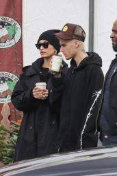 Hailey Bieber and Justin Bieber at Mr. Jingle