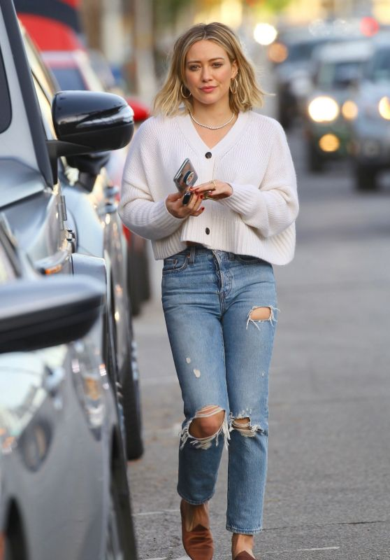 Hilary Duff in Ripped Jeans 12/16/2019