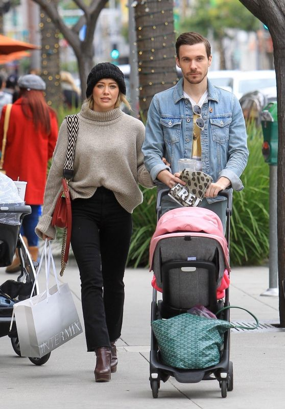 Hilary Duff - Shopping in Beverly Hills 11/30/2019