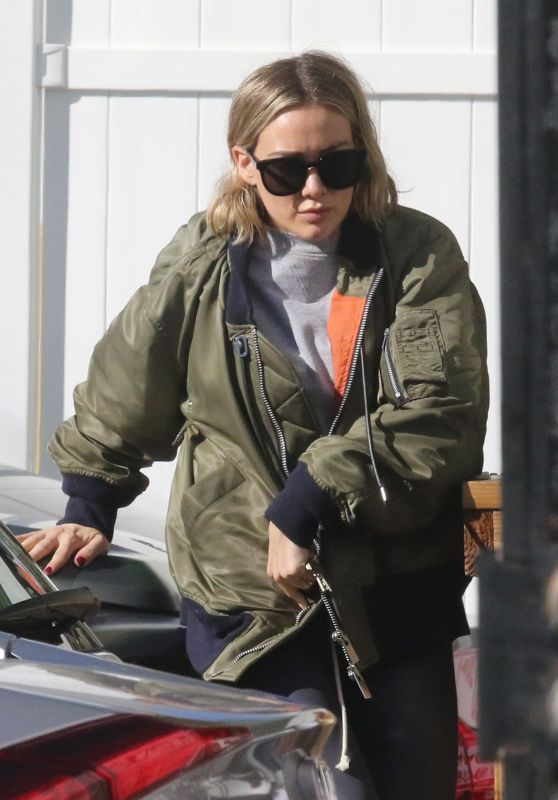 Hilary Duff Street Style - Alfred Coffee in Studio City 12/27/2019