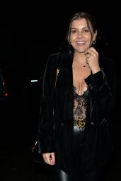 Imogen Thomas - Leaving MKNY House in Mayfair 12/01/2019
