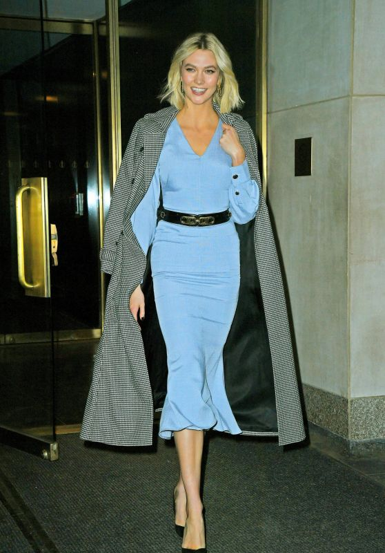 Karlie Kloss in a Pale Blue Brandon Maxwell Dress 12/04/2019