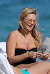 Kate Moss in a Black Swimsuit 12/03/2019