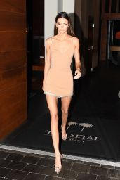 Kendall Jenner Shows Off Her Long Legs in a Mini Dress - Miami 12/06/2019